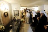 Предстоятель Русской Православной Церкви совершил заупокойную службу на могиле архиепископа Мирона (Ходаковского) в Супрасльском монастыре