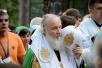 Визит Святейшего Патриарха Кирилла в Польшу. Всенощное бдение в Спасо-Преображенском соборе Марфо-Мариинского женского монастыря на Святой Горе Грабарке