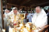 Предстоятели Русской и Польской Православных Церквей совершили богослужение на горе Грабарке в день Преображения Господня