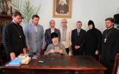 Предстоятель Украинской Православной Церкви поклонился уникальному образу Пресвятой Богородицы домонгольского периода