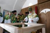 Предстоятель Русской Церкви освятил храм Смоленской иконы Божией Матери в Савватиевой пустыни Соловецкого монастыря