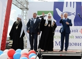 Святейший Патриарх Кирилл возглавил церемонию открытия детского православного лагеря Мордовской митрополии