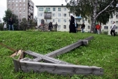 В Архангельске уничтожен поклонный крест