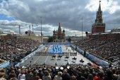 Святейший Патриарх Кирилл принял участие в церемонии празднования Дня города Москвы на Красной площади