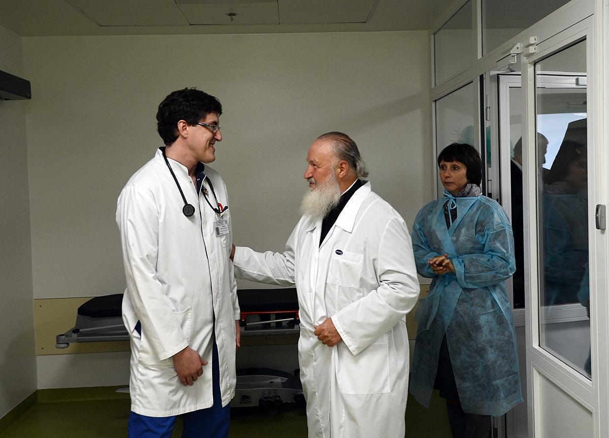 Посещение Святейшим Патриархом Кириллом Федерального научно-клинического центра детской гематологии в Москве