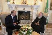 Состоялась рабочая встреча Святейшего Патриарха Кирилла с губернатором Калининградской области Н.Н. Цукановым