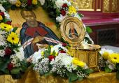 В Ханты-Мансийск принесен ковчег с частицей мощей святителя Нектария, архиепископа Тобольского и Сибирского