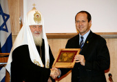 Предстоятель Русской Православной Церкви встретился с градоначальником Иерусалима Н. Баркатом