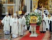 В канун праздника Вознесения Господня Святейший Патриарх Кирилл совершил всенощное бдение в Храме Христа Спасителя