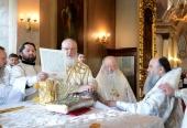 В праздник Вознесения Господня Святейший Патриарх Кирилл совершил Литургию в столичном храме «Большое Вознесение» и возглавил хиротонию архимандрита Сергия (Булатникова) во епископа Клинцовского