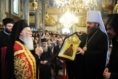 Делегация Московского Патриархата приняла участие в праздновании тезоименитства Патриарха Константинопольского Варфоломея
