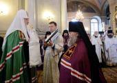 Слово Святейшего Патриарха Кирилла при вручении архиерейского жезла Преосвященному Сергию (Булатникову), епископу Клинцовскому и Трубчевскому