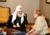 Состоялась встреча Святейшего Патриарха Кирилла со спикером эстонского парламента