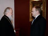 Предстоятель Русской Православной Церкви встретился с министром иностранных дел Эстонии