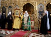 Святейший Патриарх Кирилл совершил молебен в Александро-Невском кафедральном соборе Таллина