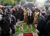 Святейший Патриарх Кирилл прибыл в Успенский Пюхтицкий монастырь