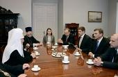 Святейший Патриарх Кирилл встретился с главой Правительства Эстонии Андрусом Ансипом