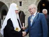 Святейший Патриарх Кирилл посетил ратушу Таллина