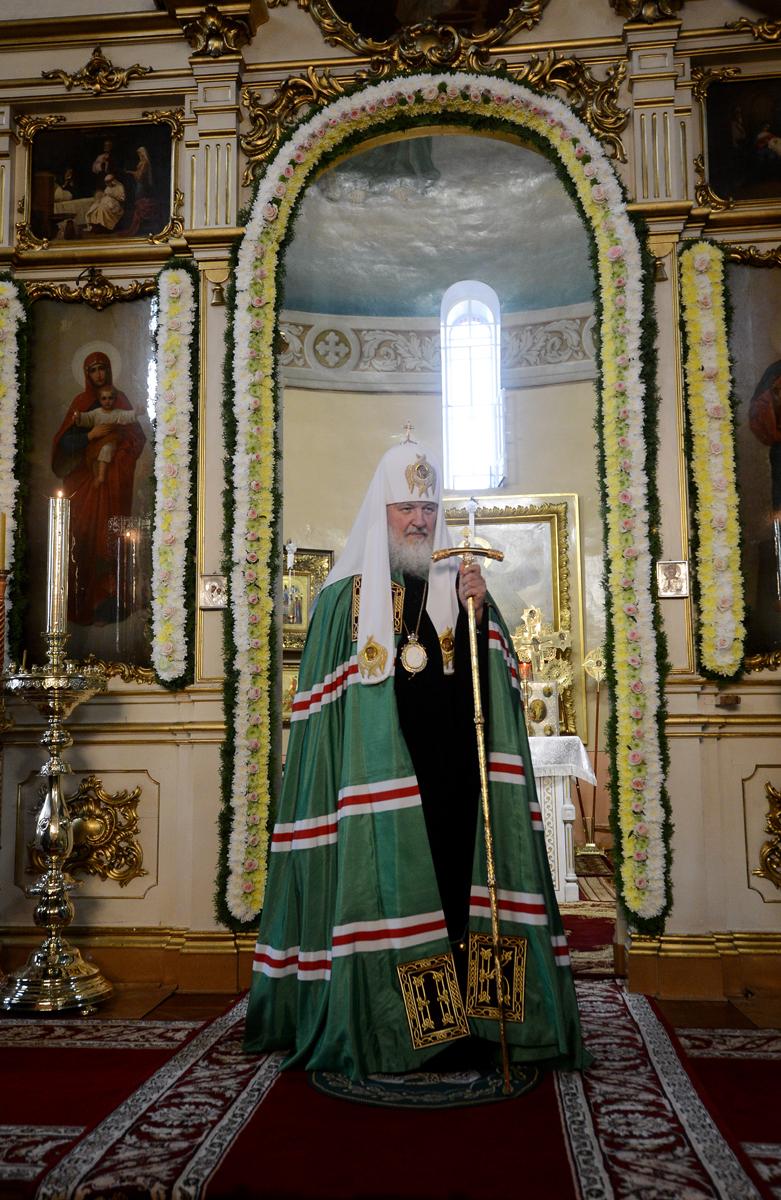 Патриарший визит в Эстонию. Прибытие в Пюхтицкий монастырь