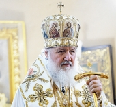 Слово Святейшего Патриарха Кирилла после Божественной литургии в Пюхтицком ставропигиальном монастыре