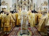 Святейший Патриарх Кирилл возглавил служение Божественной литургии в Пюхтицком монастыре