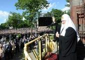 Святейший Патриарх Кирилл посетил Воскресенский кафедральный собор Нарвы