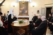 Состоялась встреча Святейшего Патриарха Кирилла с архиепископом Евангелическо-Лютеранской церкви Эстонии Андресом Пыдером
