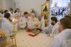 Патриаршее служение в храме святого князя Игоря Черниговского в подмосковном Переделкине. Хиротония архимандрита Леонида (Горбачева) во епископа Аргентинского и Южноамериканского