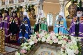 Патриаршая проповедь после Литургии в храме святого князя Игоря Черниговского в Переделкине