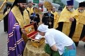 Международный крестный ход, посвященный 1025-летию Крещения Руси, прибыл в Пятигорск