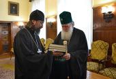 Святейший Патриарх Болгарский Неофит принял настоятеля Патриаршего подворья Русской Православной Церкви в Софии