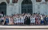В Храме Христа Спасителя состоялось торжественное награждение выпускников московских православных школ и гимназий