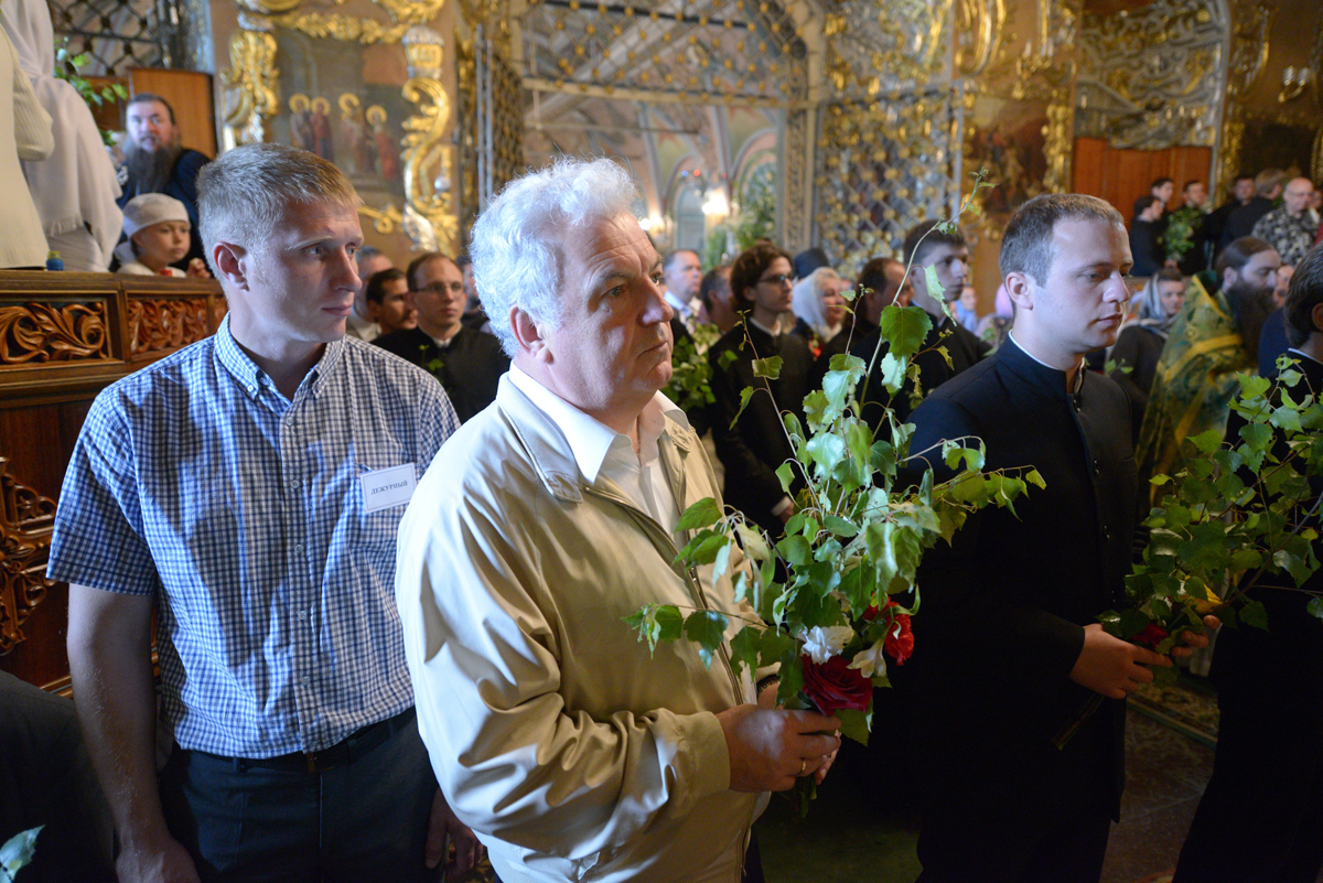 Патриаршее служение в праздник Святой Троицы в Троице-Сергиевой лавре