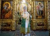 В день Святой Троицы Святейший Патриарх Кирилл совершил Божественную литургию в Троице-Сергиевой лавре