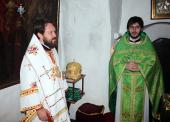Митрополит Волоколамский Иларион совершил Божественную литургию в дальних пещерах Киево-Печерской лавры