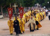 Международный крестный ход с мощами святого равноапостольного князя Владимира прибыл на Украину