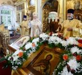 Святейший Патриарх Кирилл совершил Божественную литургию в московском храме Рождества Иоанна Предтечи в Ивановском