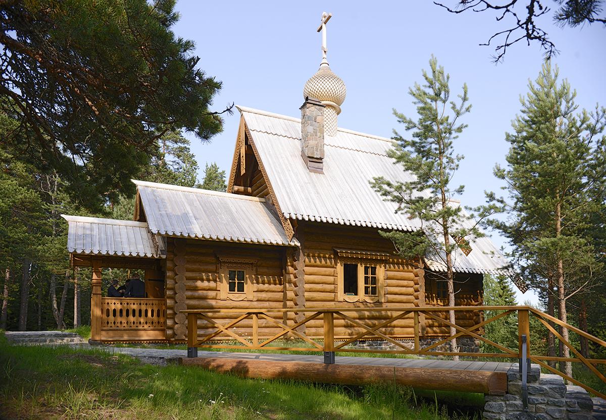 Патриарший визит на Валаам. Посещение острова Байонный. Освящение храма в честь преподобного Германа Аляскинского