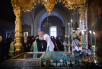 Патриарший визит на Валаам. Славление основателям обители преподобным Сергию и Герману в Преображенском соборе
