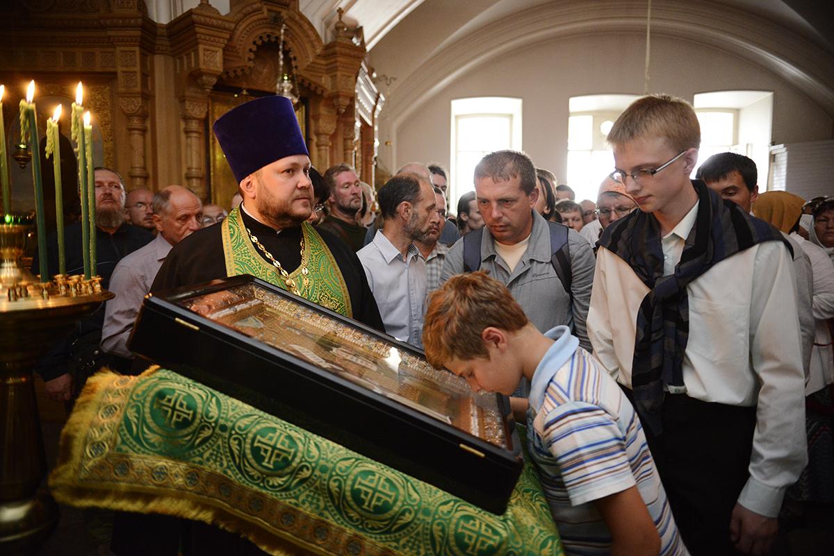 Патриарший визит на Валаам. Всенощное бдение в канун дня памяти преподобных Сергия и Германа Валаамских