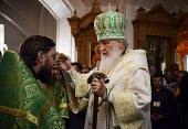 В канун дня памяти преподобных Сергия и Германа Валаамских Предстоятель Русской Церкви совершил всенощное бдение в Спасо-Преображенском соборе Валаамской обители