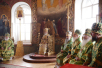 Патриарший визит на Валаам. Божественная литургия в верхнем храме Спасо-Преображенского собора. Хиротония архимандрита Игнатия (Тарасова) во епископа Костомукшского и Кемского