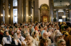 Патриаршее служение в Казанском соборе Санкт-Петербурга. Торжественная встреча Креста апостола Андрея Первозванного