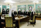Под председательством Святейшего Патриарха Кирилла открылось очередное заседание Священного Синода