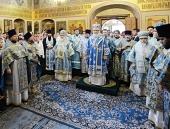 В праздник Казанской иконы Божией Матери Предстоятель Русской Церкви совершил Литургию в Казанском соборе на Красной площади Москвы