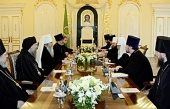 Состоялась встреча Святейшего Патриарха Московского и всея Руси Кирилла с Блаженнейшим Митрополитом всей Америки и Канады Тихоном