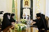 Святейший Патриарх Кирилл приветствовал делегацию Антиохийской Православной Церкви