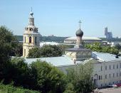 Епископ Дмитровский Феофилакт возглавил первую Божественную литургию в возрождаемом Андреевском монастыре города Москвы