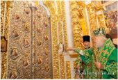 В день памяти преподобного Антония Печерского Предстоятель Украинской Православной Церкви освятил Царские врата иконостаса Успенского собора Лавры