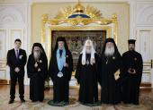 Предстоятель Русской Православной Церкви встретился с Блаженнейшим Архиепископом Кипрским Хризостомом